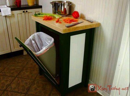 Phong thủy cho thùng rác tránh tổn tài hại sức