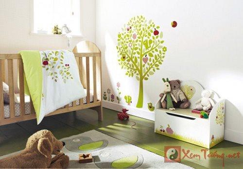Lưu ý cần thiết khi bố trí phòng ngủ trẻ sơ sinh (p2)