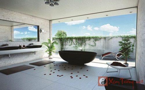 Mang năng lượng tích cực vào phong thủy phòng tắm