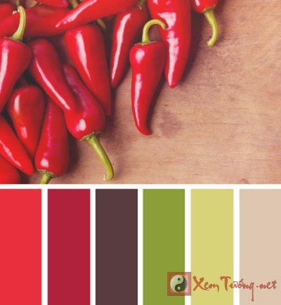 Tùy biến màu sắc nhà bếp hút tài vượng khí