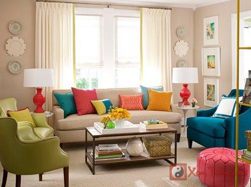 Tùy biến màu sắc 4 hướng chính cho ngôi nhà hút tài sinh lộc
