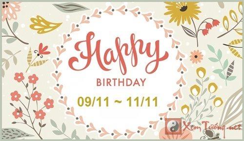 Giải mã ý nghĩa ngày sinh (Từ ngày 09/11 tới ngày 13/11)