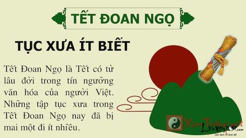 Tục xưa ít biết về ngày Tết Đoan Ngọ trong văn hóa Việt