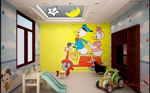 Treo tranh trong phòng trẻ để con khỏe mạnh, học hành tiến bộ