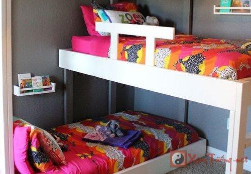 Hết sức cẩn trọng phong thủy giường ngủ cho bé