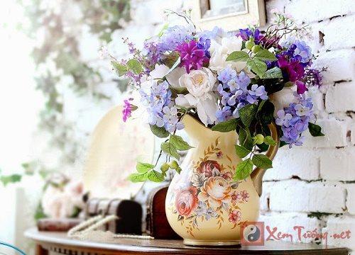 Bay lo hoa chuan phong thuy o 9 cung vi trong nha hinh anh