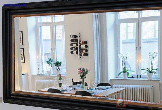 Treo gương trong nhà, nhân đôi tài lộc