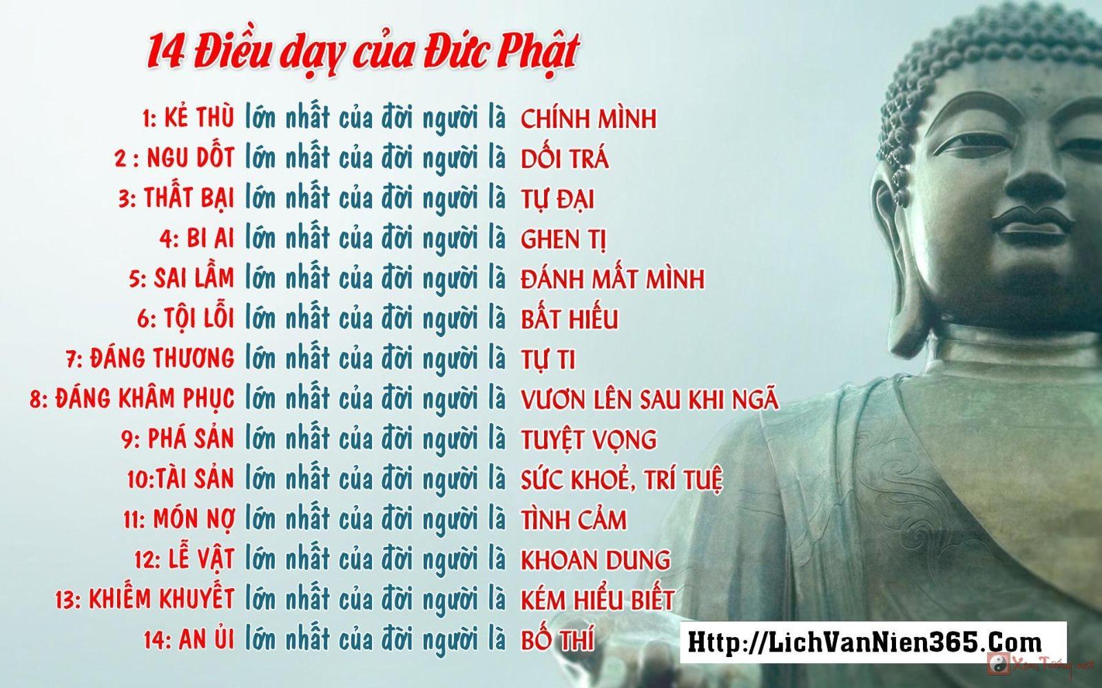 14 điều dạy của Phật