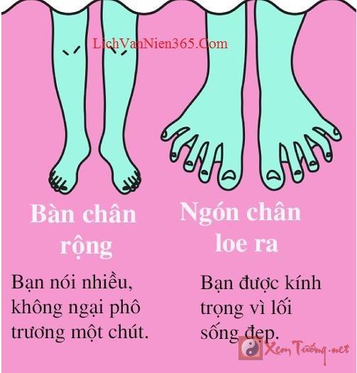 Xem bói bàn chân to và loe