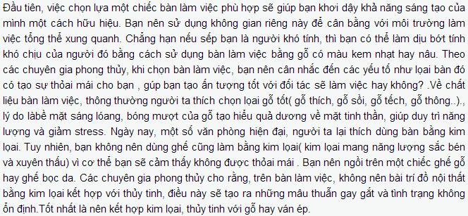 chon ban lam viec phu hop phong thuy van phong Phong thủy văn phòng theo quan niệm của người Trung Hoa