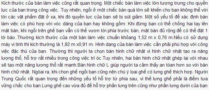 kich thuoc ban lam viec phai hop ly Phong thủy văn phòng theo quan niệm của người Trung Hoa