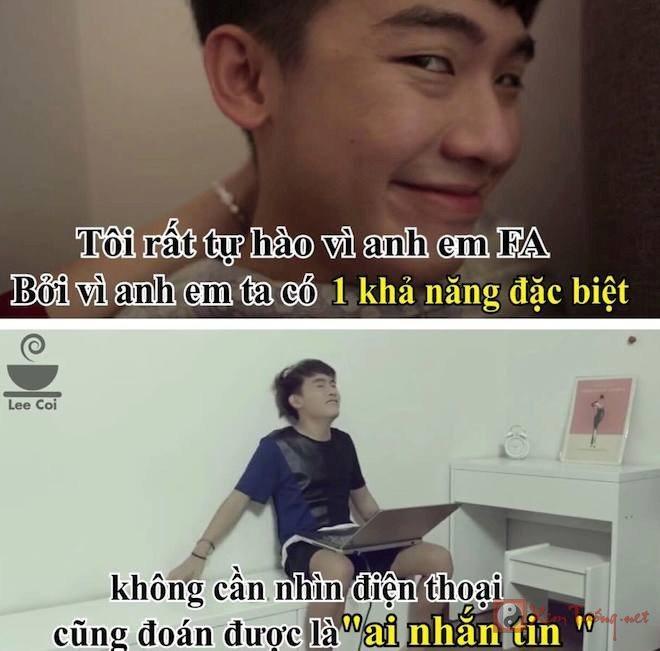 Những câu nói và hình ảnh hài hước về chàng FA