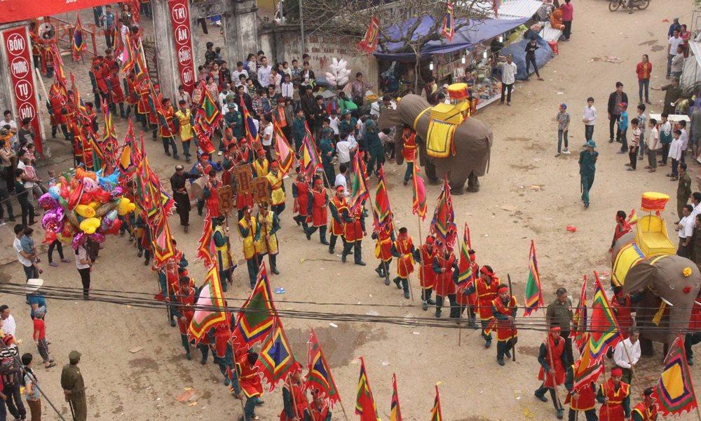 Các lễ hội ngày 27 tháng 1 Âm Lịch - Hội Rước Voi (Đào Xá)